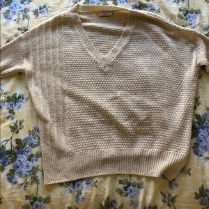 cream sweater size small